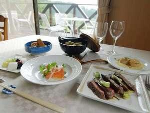 ボイルドビーフの夕食