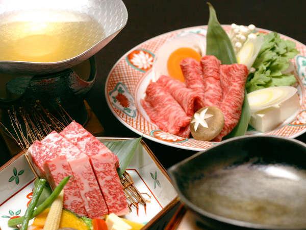 【お部屋食】 一人は鉄板焼、もう一人はしゃぶしゃぶで。『神戸牛たっぷり120gペア会席』 商品No:4143j