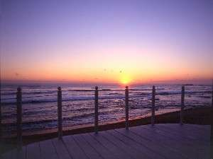 本州で一番早い日の出(ロビーバルコニーでご来光)