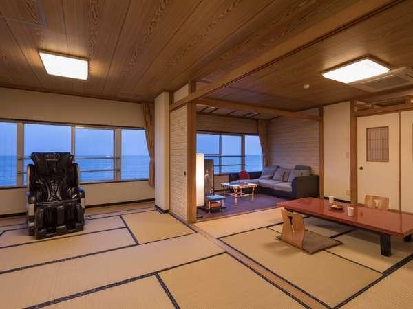 【客室一例】広い畳で赤ちゃんも安心♪海を一望する広い客室