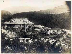 【歴史】明治24年当時。富士屋ホテル外観です。