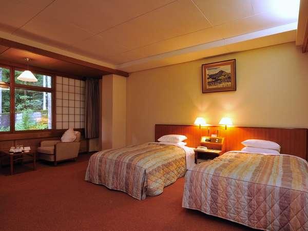 【フォレスト館】モデレートツインルーム・一例(35~40平米のゆったりサイズのお部屋です)