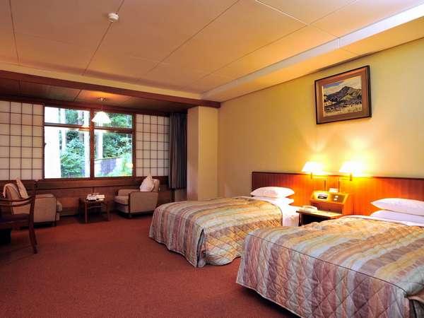 【モデレートツインルーム】35~40平米(一例)ゆったりサイズのお部屋です
