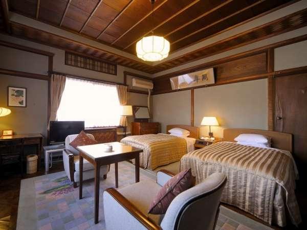 【花御殿・デラックスツイン(一例)】お部屋によって広さ・インテリアなど様々です(34~41平米)