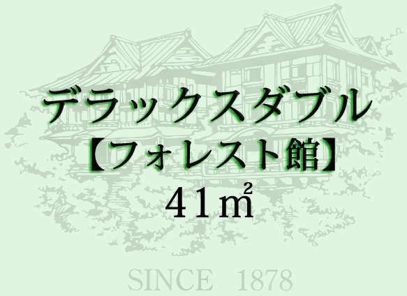 昭和35年建築「フォレスト館」のキングサイズのダブルベッドのお部屋です。庭園や箱根の山々を望みます。
