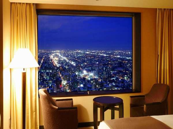 ツインルームからの夜景