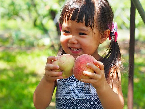 【もも狩り】夏本番の山梨で体験★提携農園で味わうジューシーな桃狩り付プラン!宿から無料送迎可