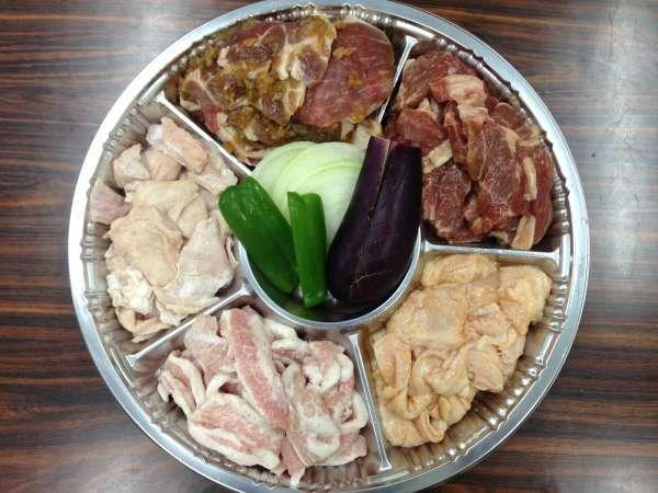 *BBQセット一例/北海道ならではのジンギスカンやホルモンもご用意いたします!