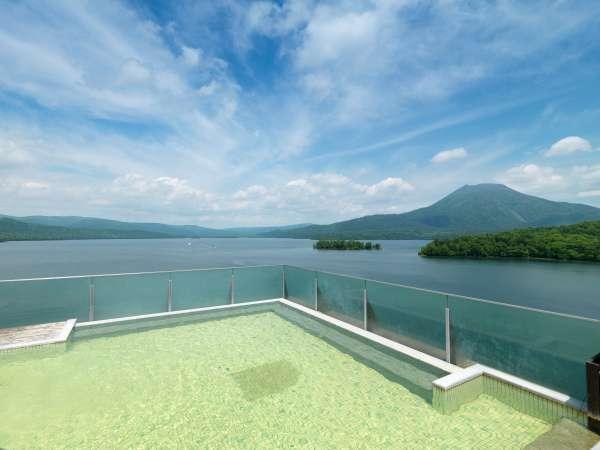 ■空中露天風呂「天女の湯」/広い湯船から眺める素晴らしい景色に感動!