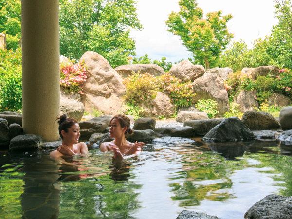 【露天風呂】里山の中でゆったりできる露天風呂