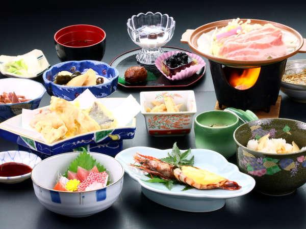 【夕食】グレードアッププランのお料理です。品数豊富☆山下荘の味をお楽しみください♪