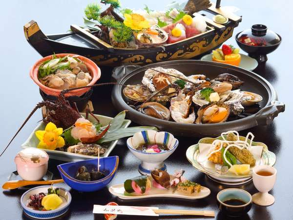 【みえ食旅パスポート付】豪快に♪贅沢に♪伊勢志摩水軍料理【伊勢海老!鮑!サザエなどの大陶板】