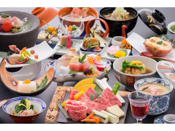 お一人様ずつ人気のメイン料理を自由にセレクト※御船山楽園「かみさまがすまう森」アート展入園無料!