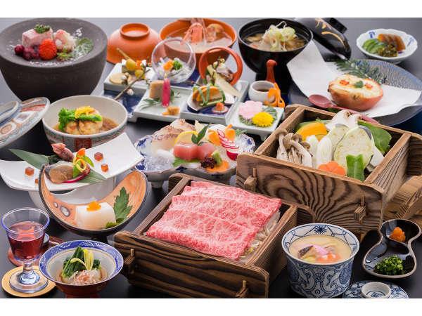 お一人様ずつ人気のメイン料理を自由にセレクト※御船山楽園入園無料!