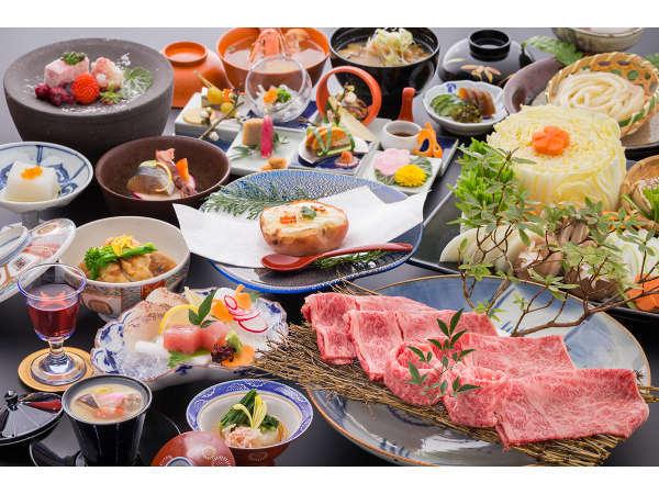 【佐賀牛A5等級】 のすき焼き会席※御船山楽園入園無料!