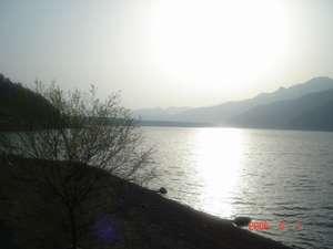 西湖畔の眺め