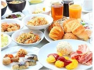 人気の朝食バイキング付プラン♪ 和洋食お腹いっぱい食べ放題!
