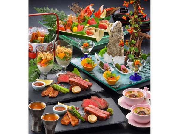 【じゃらんnet】美食の旅♪和牛フィレ・牛タン・仙台牛を贅沢な鉄板料理でお楽しみ☆特選料理・花暦御膳☆