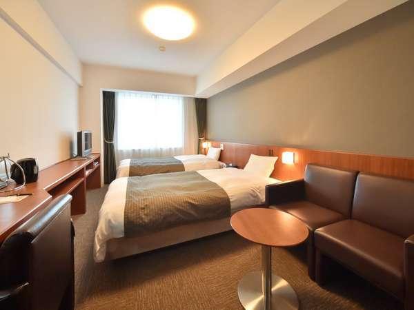 ◆【客室】ツイン 21.75平米 ベッドサイズ;110cm×205cm
