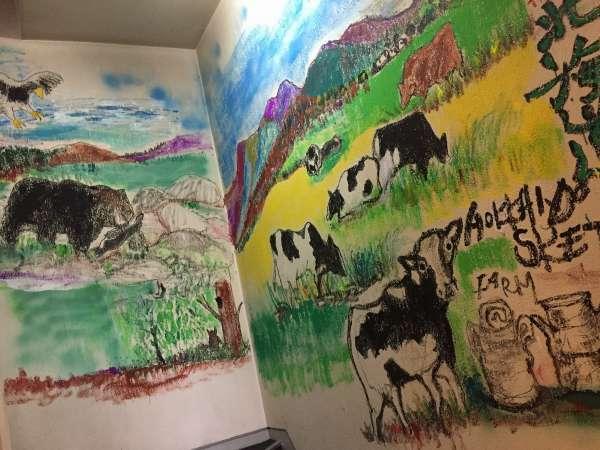 某有名画家により直塗りで壮大な北海道を全階段にて表現!