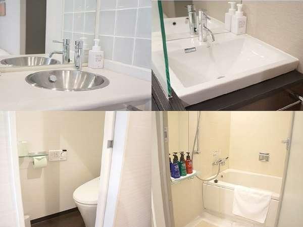 洗い場付のお風呂。洗面台とトイレも別々で非常に便利ですよ!