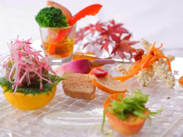 【イタリアン・ディナー】旬のお野菜・魚が魅力☆メインは豊後牛!フルコースプラン♪<一泊二食>