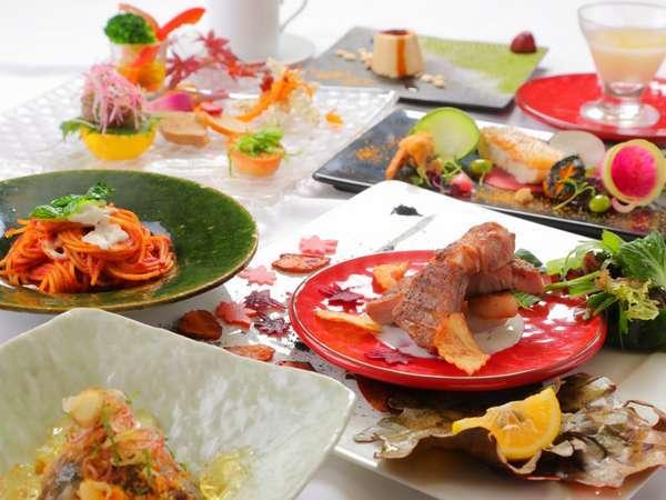 【イタリアン・ディナー】旬のお野菜・魚が魅力☆メインは錦雲豚!贅沢なフルコースプラン♪<一泊二食>