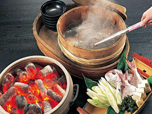 豪快調理!男鹿名物『磯焼(石焼)料理』■郷土料理の基本会席プラン