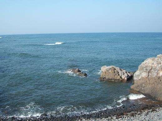 当施設から望む日本海