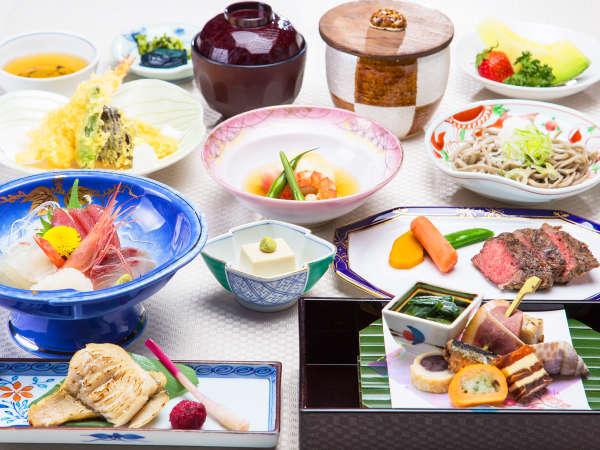 【若狭路旬彩:一例】会席コースがグレードUP!北陸・若狭の季節の食材を会席でご堪能下さい。