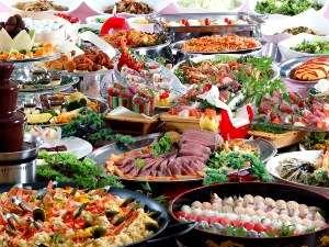約80種類のグルメバイキングプラン!すべて食べ放題です♪(イメージ写真)