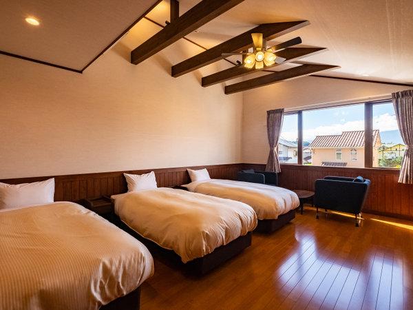 寝室1【スーペリアメゾネットコテージ】