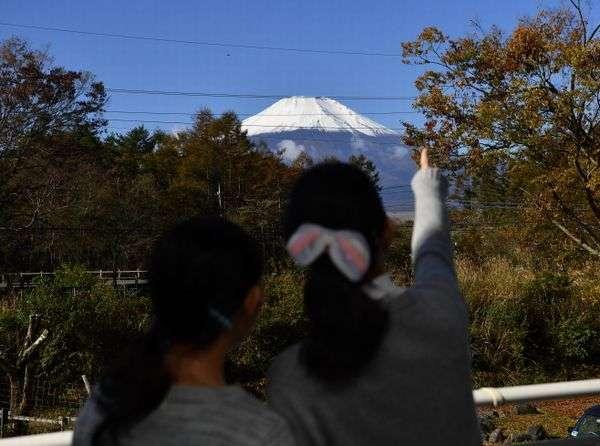 バルコニーから富士山を楽しむ