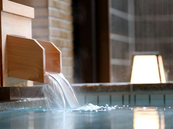 【天然温泉】福井市では数少ない高温の自家源泉をもつ宿。美容や健康に良い全国でも珍しい硫酸塩泉です。