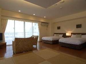【401号室~竹富島~ 】琉球畳とツインのお部屋は、ファミリーにも大人気!