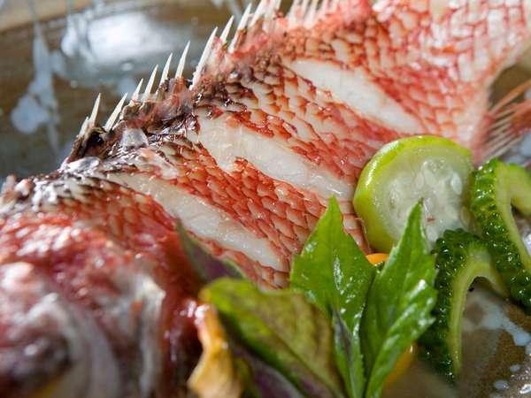 北谷漁港直送の新鮮県産魚をご提供致します。
