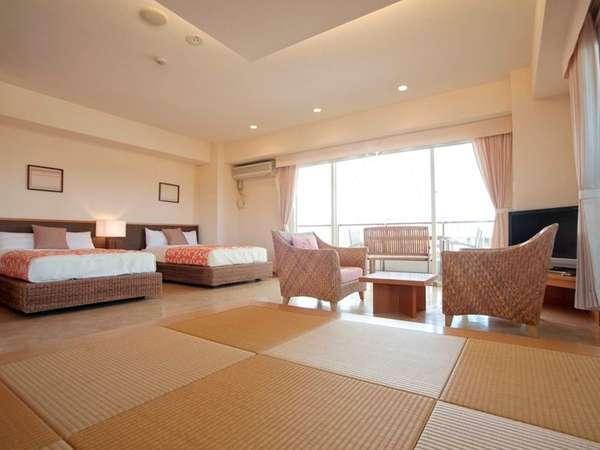 【402号室~久米島~】ファミリーに大人気☆琉球畳間を設けた和洋室!