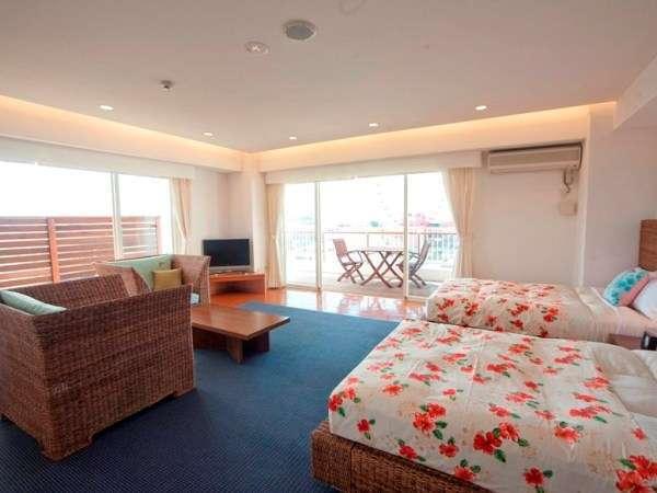 【501号室~阿嘉島~】開放感溢れるお部屋が、リゾート感を演出します。