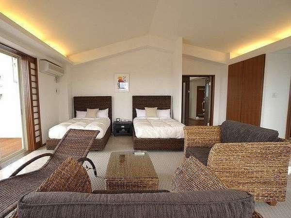 全室100平米の客室は、ジャグジーが完備された離れ部屋。ご滞在中はの~んびりお過ごし下さいませ。