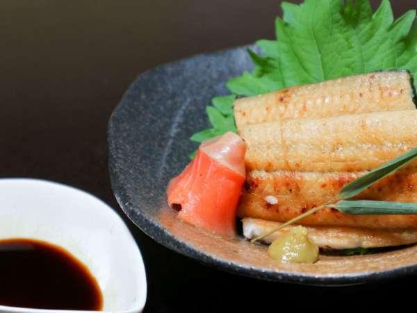 *【うなぎの白焼き2】夕食グレードアッププラン☆わさび醤油をつけて食べるのがオススメです!