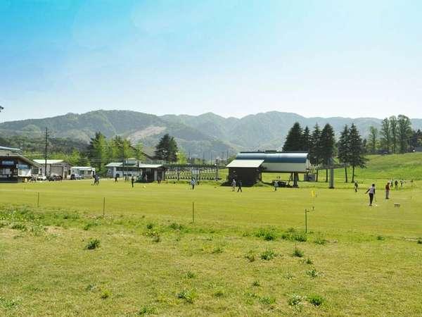 【春の奥神鍋高原】春~秋。アップ神鍋のゲレンデはグランドゴルフの会場に変わります