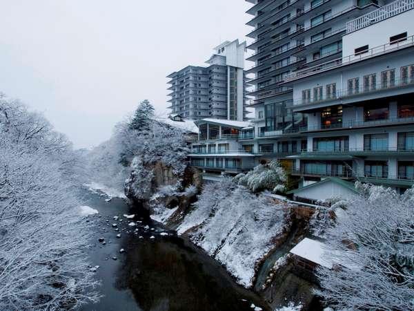 名取川沿いの冬景色