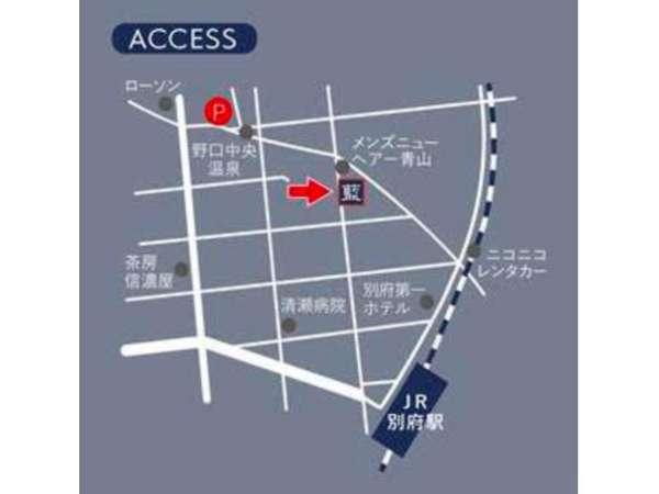 ホテルから徒歩3分の場所に、6台分の無料駐車場がございます。