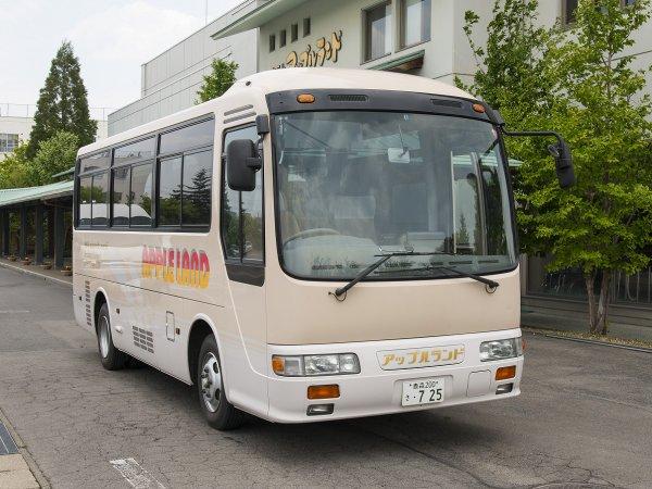 送迎バス「アップル号」弘前駅⇔ホテル※事前予約制です