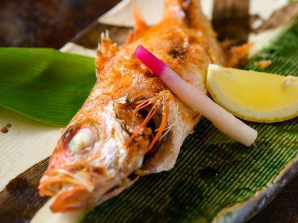 幻の高級魚<のど黒の塩焼き>&<越前の海の幸>プラン