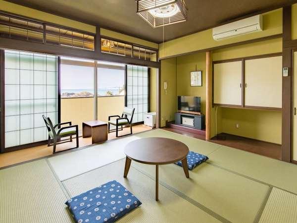 <日本海一望と越前松島を望むオーシャンビューの眺望の客室>「お部屋当日の状況でおまかせ願います」