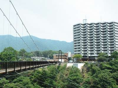 2009年夏完成の鬼怒楯岩大吊橋と当館