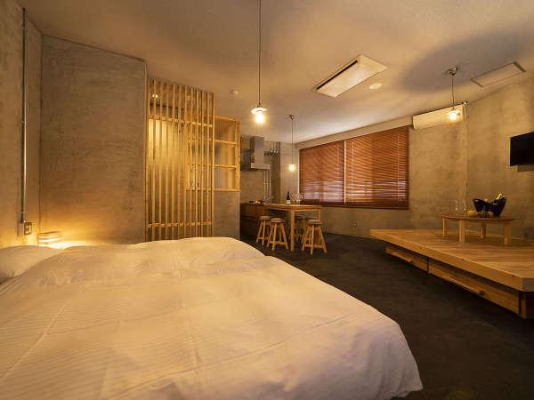 """3F Hotel Area『ブドウを醸す』ワインカーブをイメージしたお部屋""""Studio Twin"""""""