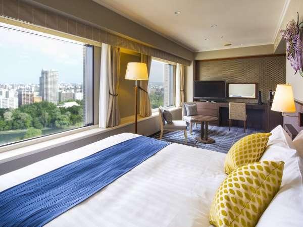 【デラックスダブル】 (シモンズ製ベッド160㎝×203㎝)お部屋は15階以上★人気のパークビュールーム
