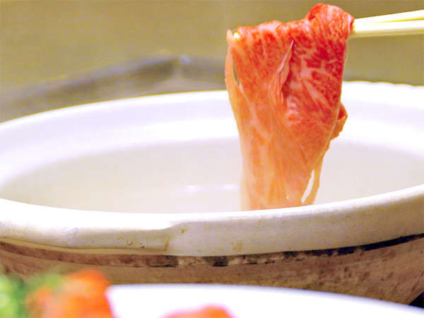 【伊賀牛しゃぶしゃぶ】山水園オリジナル!こだわりのお出汁と伊賀産野菜で食べるしゃぶしゃぶ